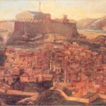 Άποψη της Αθήνας, από τον Jacques Carrey (1674).