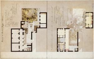 Plan of the Athenian mansion of the Masses family, by Carl Haller von Hallerstein (1814).