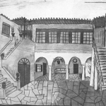 The Benizelos mansion, by Giannis Tsarouchis.  ©Ίδρυμα Γιάννης Τσαρούχης