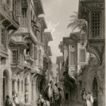 A Street in Smyrna, by Thomas Allom (shortly before 1834).