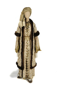 Female attire belonging to a member of the Benizelos family.