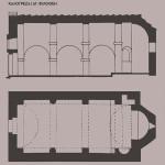 Κάτοψη και τομή του ναού των Εισοδίων της Θεοτόκου, μετοχίου στην Καλογρέζα, από: Α. Ορλάνδος, Ευρετήριον των μνημείων της Ελλάδος, Α΄. Ευρετήριον των μεσαιωνικών μνημείων, τχ. Γ΄, επιμ. Κ. Κουρουνιώτης – Γ. Α. Σωτηρίου, Αθήνα 1933, σ. 136.