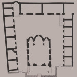 Plan of the Monastery of St Andrew (Hagios Andreas) (XAE, drawing no. 1847), from A. Xyngopoulos, Ευρετήριον των μνημείων της Ελλάδος, Α΄. Ευρετήριον των μεσαιωνικών μνημείων. 1. Αθηνών, Vol. 2, K. Kourouniotis – G.A. Sotiriou, (eds.), Athens 1929, p. 108.
