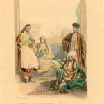 Στιγμιότυπο σε ένα αθηναϊκό αρχοντικό, από τον Henri Félix Philippoteaux (18oς αι.). ©Εθνικό Ιστορικό Μουσείο