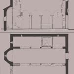 Κάτοψη και τομή του ναού του Αγίου Ανδρέα, μετοχίου στα Πατήσια, από: Α. Ορλάνδος, Ευρετήριον των μνημείων της Ελλάδος, Α΄. Ευρετήριον των μεσαιωνικών μνημείων, τχ. Γ΄, επιμ. Κ. Κουρουνιώτης – Γ. Α. Σωτηρίου, Αθήνα 1933, σ. 133.