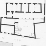 Plan of the ground floor of the mansion, 1959 (drawing by Katerina Konsta), from I. Travlos, Πολεοδομική εξέλιξις των Αθηνών, pub. Kapon, Athens 1993, p. 227.